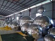 8.2 FT Full Silver Color Mirror Ball Light With 1m -3m Size For Fashion Show