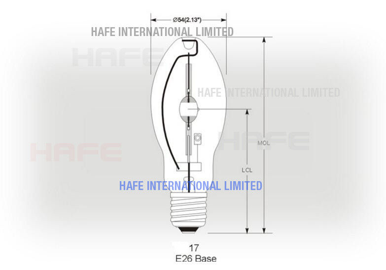 50 - 1500 Watt Metal Hailde Lamps Warm White Street Road Lighting 15000 V / 10000 H