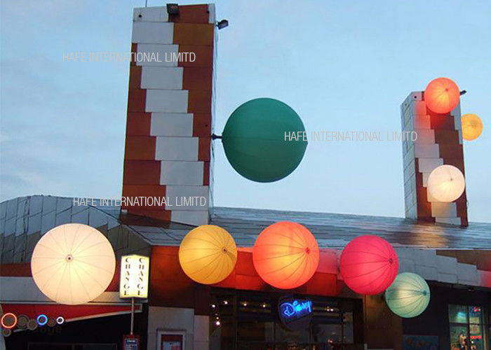Advertising Inflatable Lighting Decoration  , LED RGB Inflatable Pool Lights Balloon Water Floating