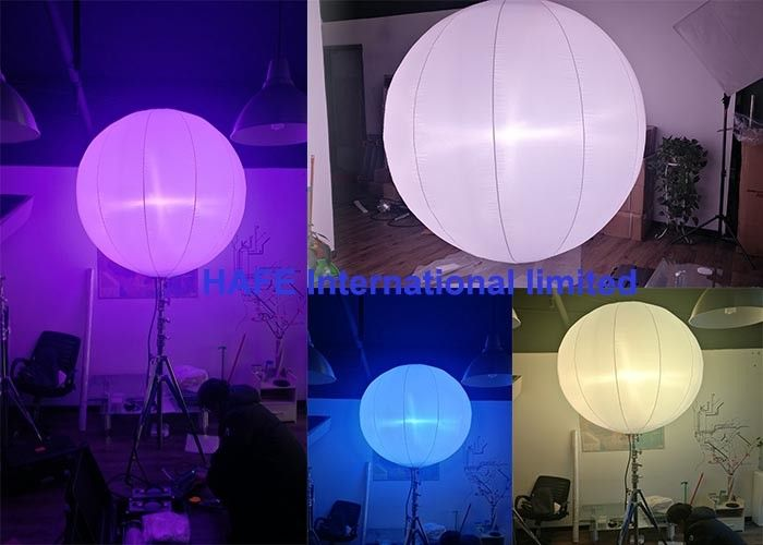 Colorful 400W RGBW Led Lamp Lights Balloons With Transport Case Packing